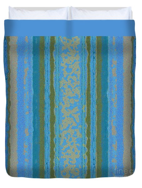 Tapeten-wallpaper-art-blue Duvet Cover