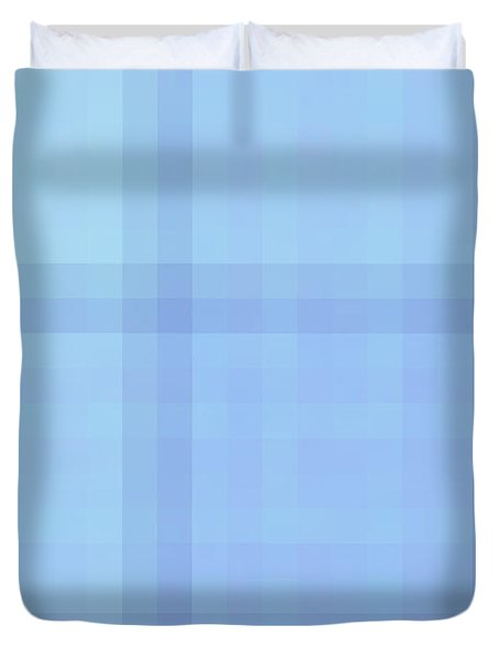 Tapeten-wallpaper-blue-checkered Duvet Cover