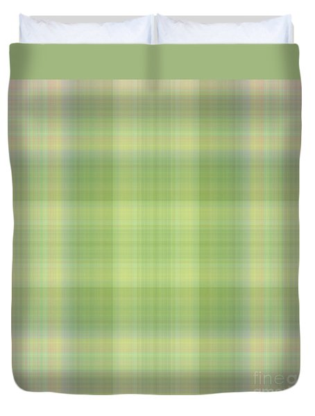 Tapeten-wallpaper-green-mix-checkered Duvet Cover