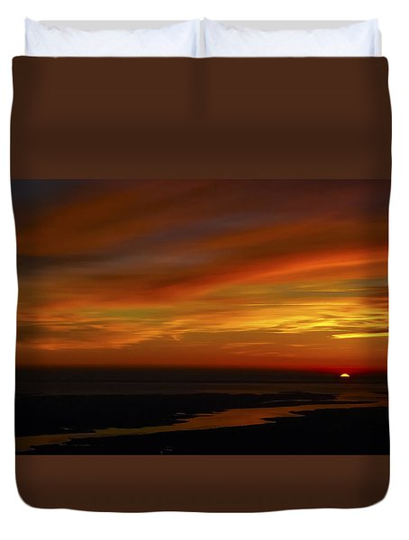 Rappahannock Sunrise II Duvet Cover by Greg Reed