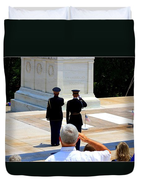 Taps At The Tomb Of The Unknown Duvet Cover by Patti Whitten