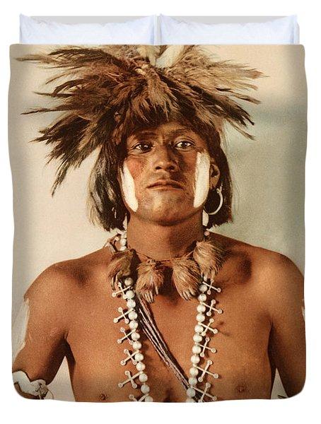 Taqul, A Moki Snake Priest Duvet Cover