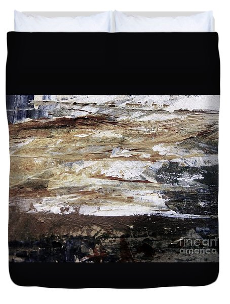 Duvet Cover featuring the painting Tar Sands Scenic Drive by Nancy Kane Chapman