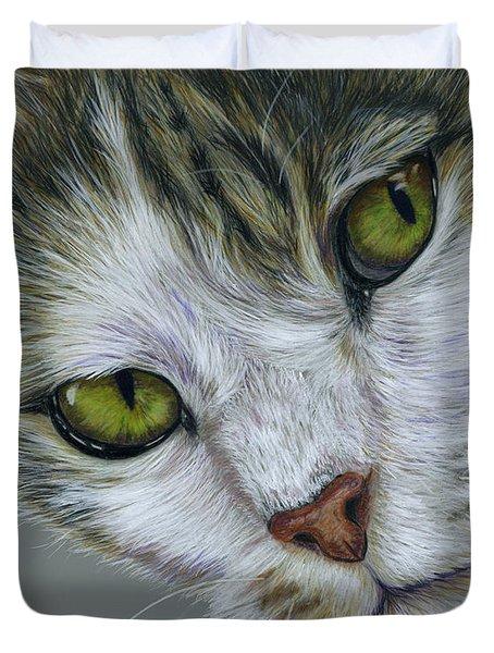 Tara Cat Art Duvet Cover