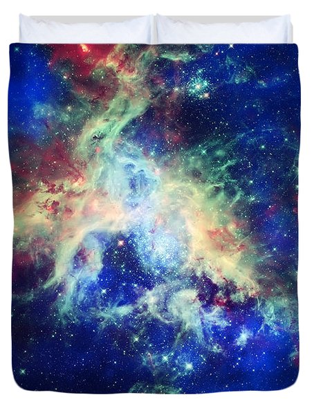 Tarantula Nebula 4 Duvet Cover by Jennifer Rondinelli Reilly - Fine Art Photography