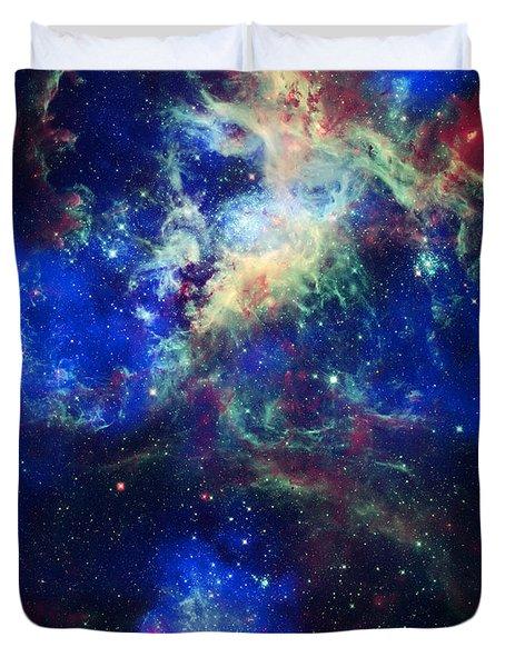 Tarantula Nebula 5 Duvet Cover by Jennifer Rondinelli Reilly - Fine Art Photography