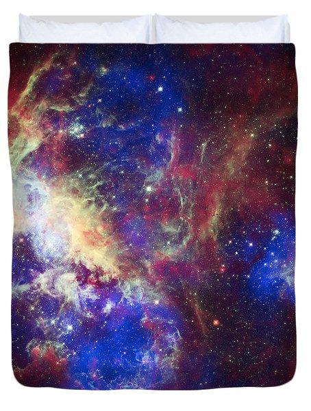 Tarantula Nebula 6  Duvet Cover by Jennifer Rondinelli Reilly - Fine Art Photography