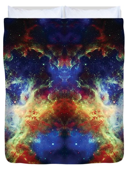 Tarantula Reflection 2 Duvet Cover by Jennifer Rondinelli Reilly - Fine Art Photography