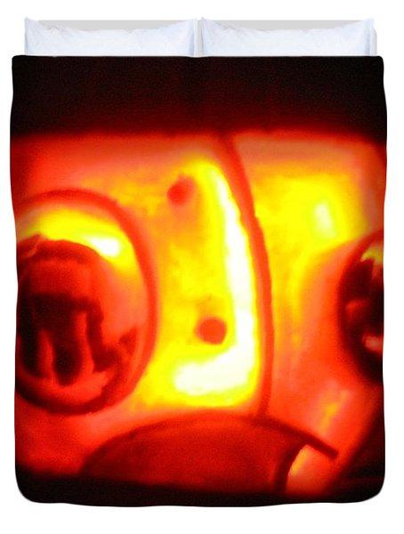Tarboy Pumpkin Duvet Cover by Shawn Dall