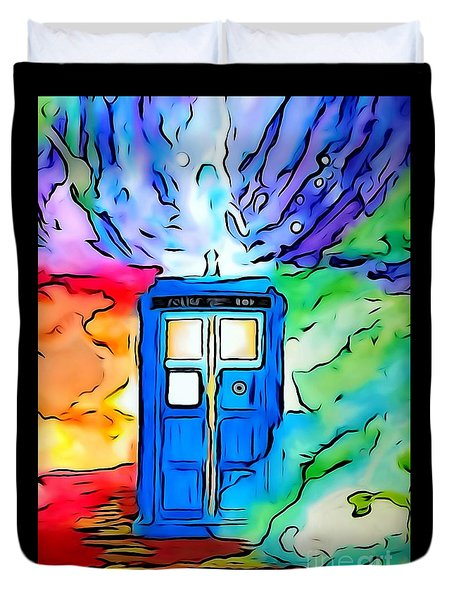 Tardis Illustration Edition Duvet Cover