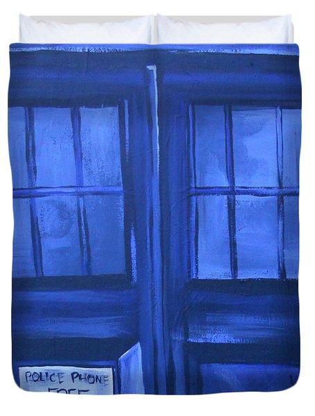 Tardis Duvet Cover by Lisa Leeman