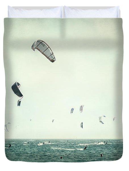 Tarifa Beach Duvet Cover by Guido Montanes Castillo