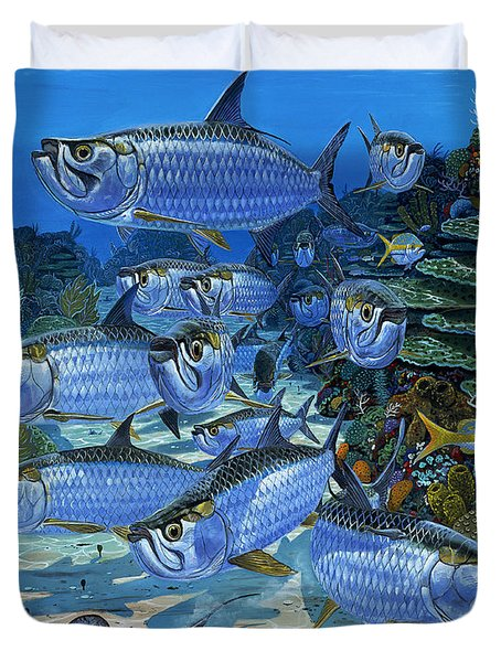 Tarpon Alley In0019 Duvet Cover