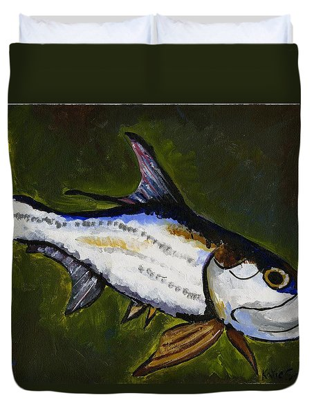 Tarpon Fish Duvet Cover