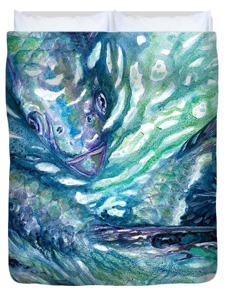 Tarpon Frenzy Duvet Cover