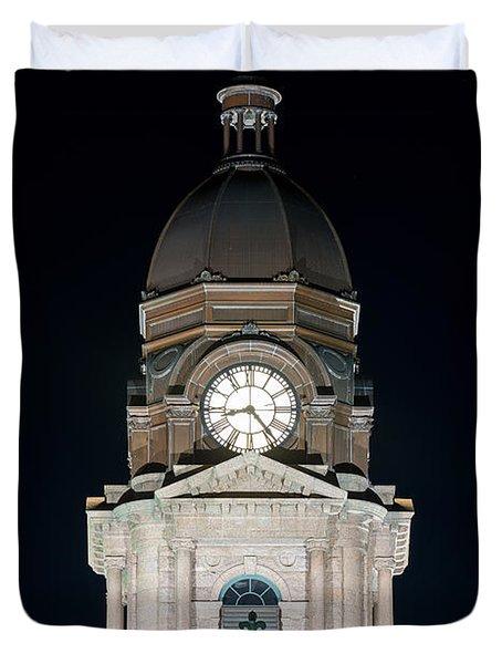 Tarrant County Courthouse V2 020815 Duvet Cover