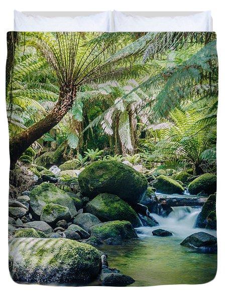 Tasmanian Rainforest Duvet Cover by Matteo Colombo
