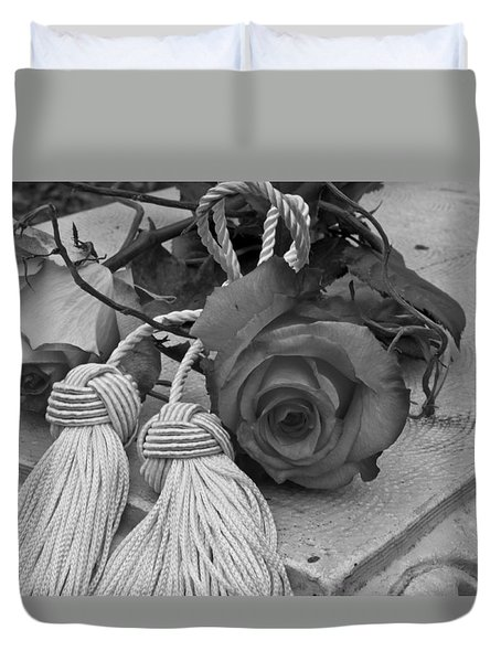 Duvet Cover featuring the photograph Tassels And Roses Beauty by Sandra Foster
