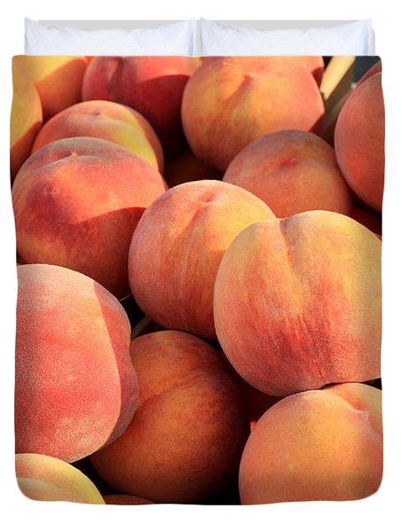 Tasty Peaches Duvet Cover by Carol Groenen