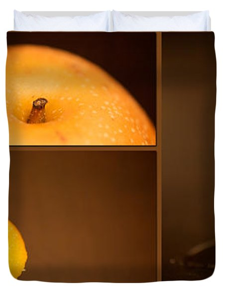 Tasty Pear Duvet Cover by Lisa Knechtel