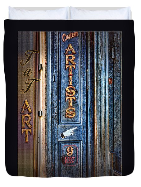 Tat Art Duvet Cover by Larry Bishop
