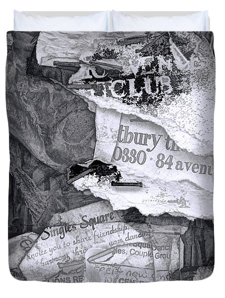 Tattered And Torn Duvet Cover by Randall Nyhof
