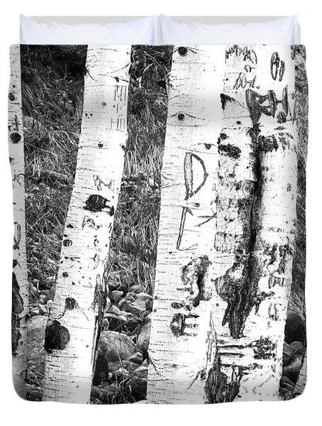 Tattoo Trees Duvet Cover