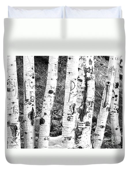 Tattoo Trees Duvet Cover