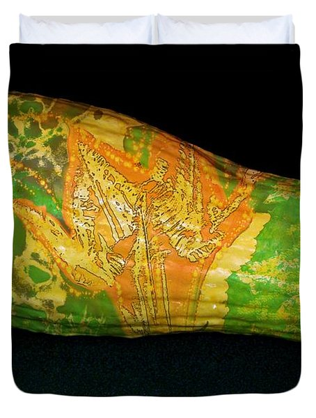 Tattooed Squash Duvet Cover by Barbara S Nickerson