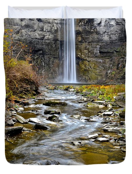 Taughannock Falls Duvet Cover by Frozen in Time Fine Art Photography