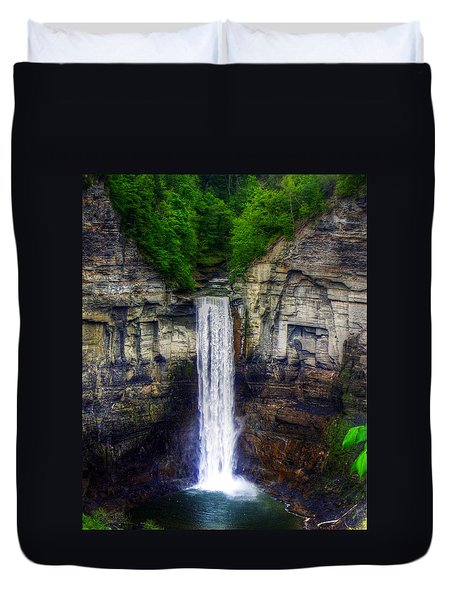 Taughannock Falls Ulysses Ny Duvet Cover by Tim Buisman
