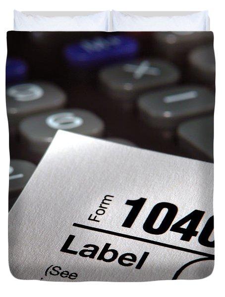 Tax Form 1040 Duvet Cover