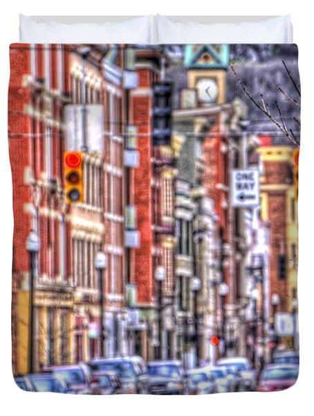 Taxi Duvet Cover by Daniel Sheldon