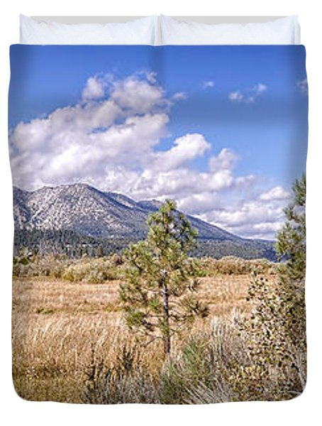 Duvet Cover featuring the photograph Taylor Creek Panorama by Jim Thompson