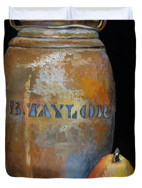 Taylor Jug With Pear Duvet Cover