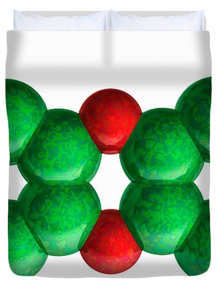 Tcdd, Molecular Model Duvet Cover