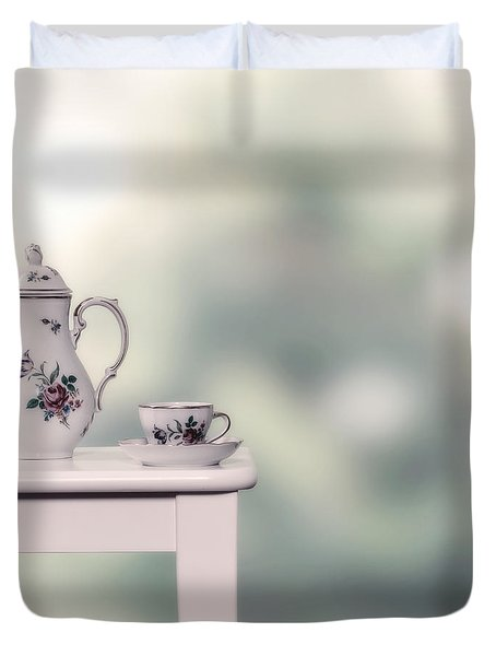 Tea Cup And Pot Duvet Cover by Joana Kruse