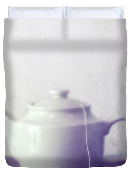 Tea Jug Duvet Cover by Priska Wettstein