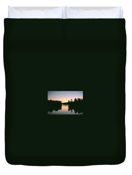 Tea Lake Sunset Duvet Cover
