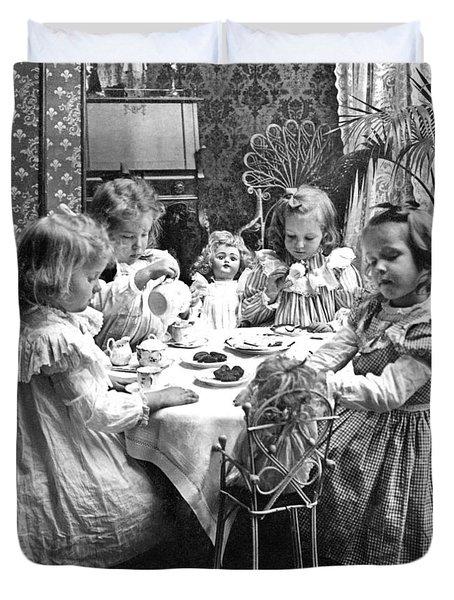 Tea Party, C1902 Duvet Cover