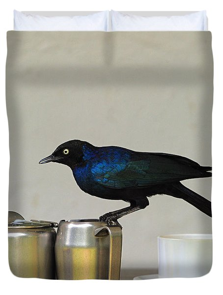 Tea Time In Kenya Duvet Cover by Tony Beck