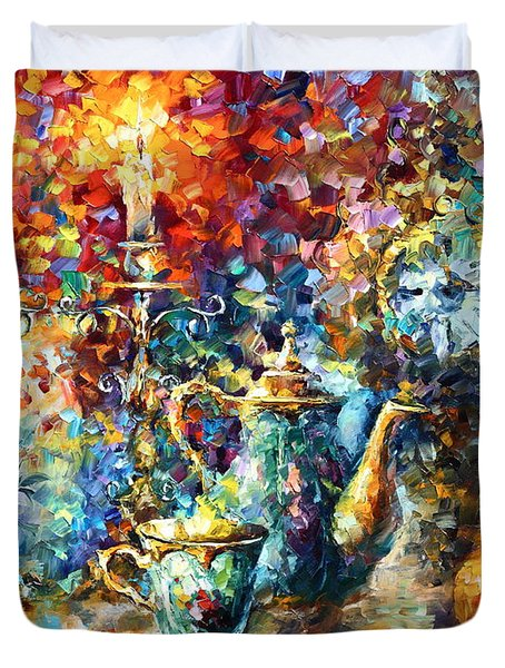 Tea Time Duvet Cover by Leonid Afremov