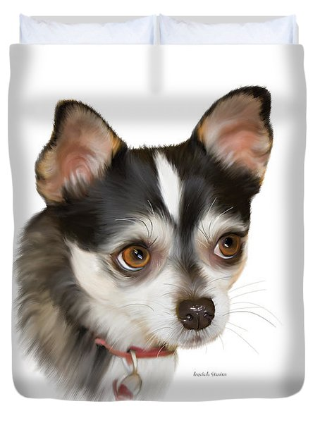 Teacup Chihuahua Duvet Cover by Angela A Stanton