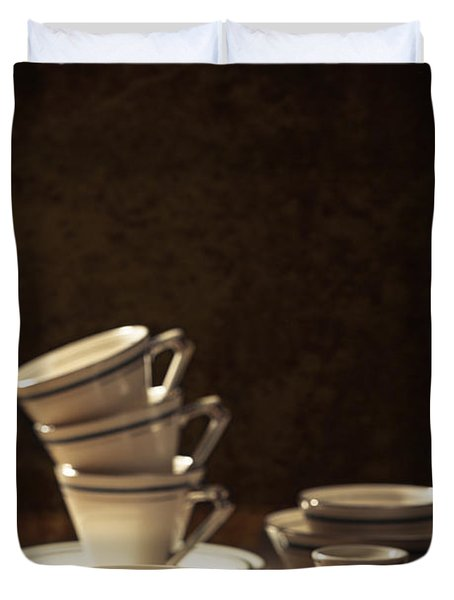 Teacups Duvet Cover by Amanda Elwell