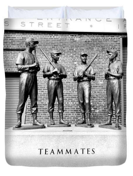 Teammates Duvet Cover by Greg Fortier