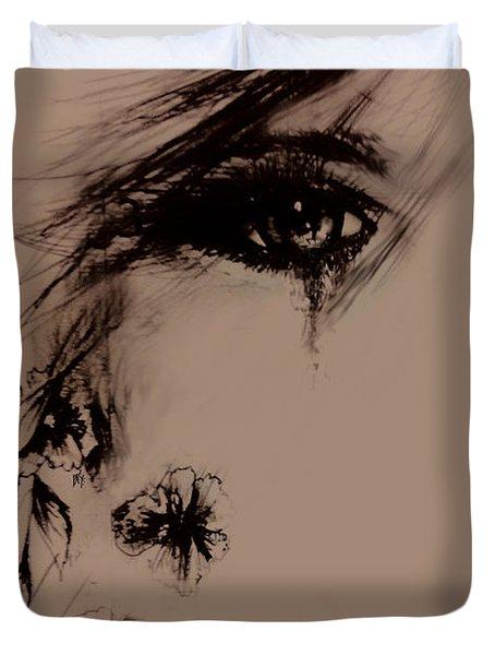 Tear Duvet Cover by Rachel Christine Nowicki