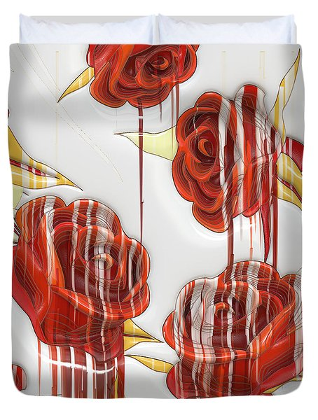 Tear-stained Roses Duvet Cover by Liane Wright