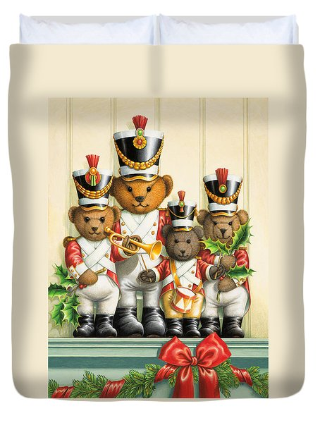 Teddy Bear Band Duvet Cover