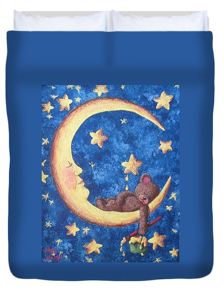 Teddy Bear Dreams Duvet Cover by Megan Walsh
