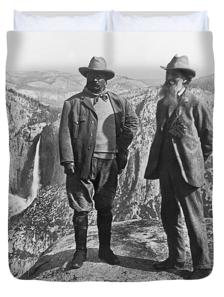 Teddy Roosevelt And John Muir Duvet Cover